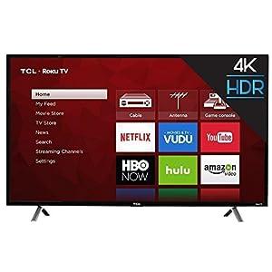 "TCL 49S403 49"" 4K UHD HDR Roku Smart LED TV (Renewed)"