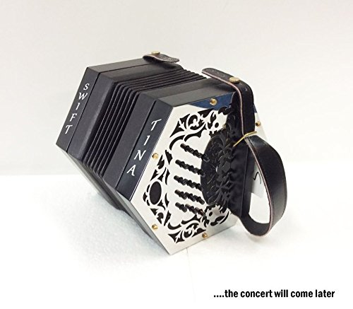 Garvey Tina Swift Irish Traditional Button Concertina Accordion - Perfect for Beginners by Garvey Tina Swift