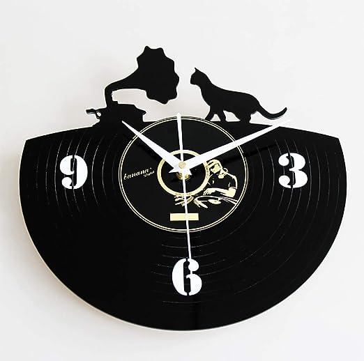 Moda Creativo Vinilo Disco CD Reloj De Pared Retro Vintage ...