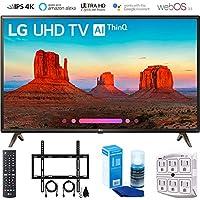 LG 43UK6300 43 UK6300 Smart 4K UHD TV (2018) with Wall Mount + Cleaning Kit (43UK6300PUE)