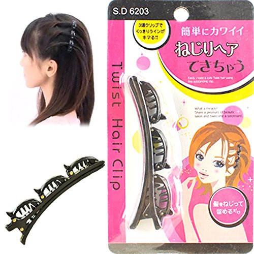 Easy Magic Clip French Twist Twister Hairstyle Former Maker Hairstyle Separeter Hair Bangs Divider ()