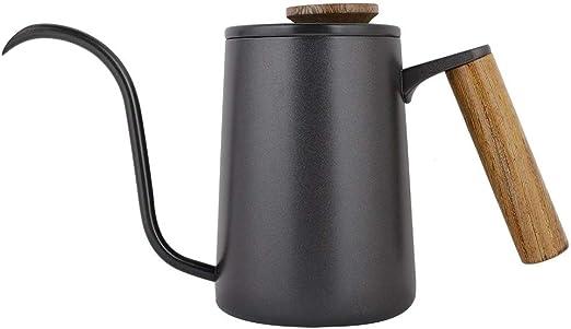 Cafetera Hervidor de Agua, 600 ml Negro Moda café Hervidor Largo ...