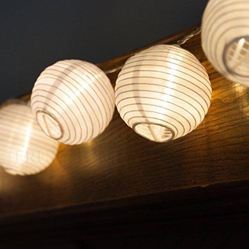 Luces de Navidad farol Solar cadena luces LED bola paisaje ...