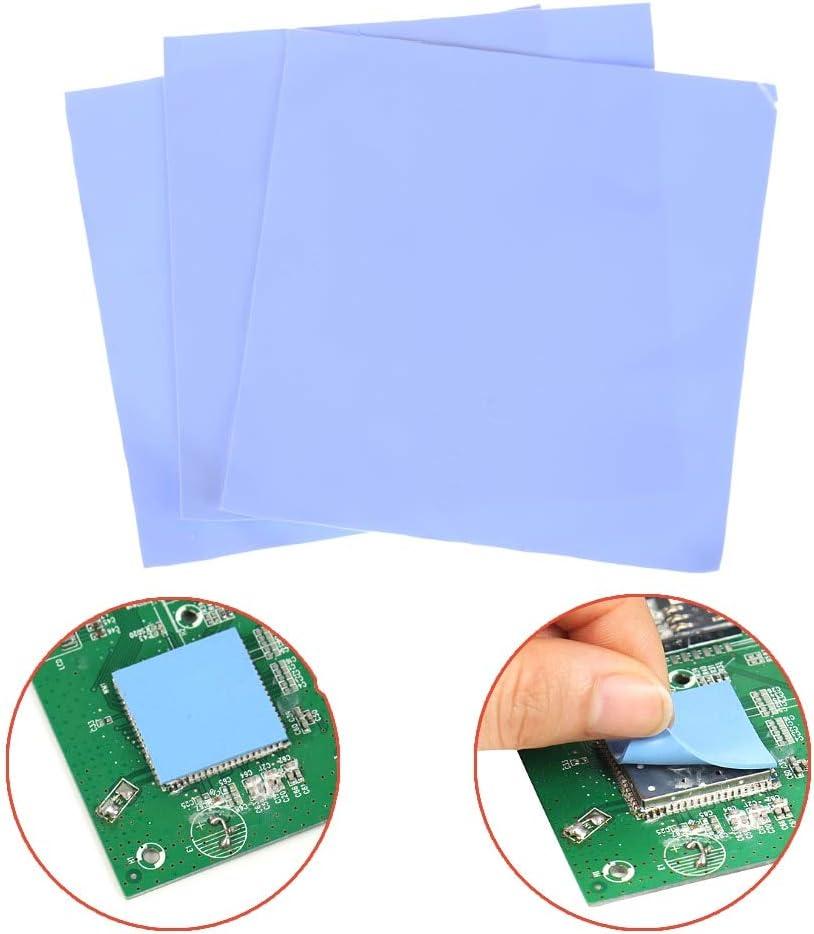 Tool Parts 3Pcs 100mm100mm0.5mm Computer GPU CPU Conductive Silicone Thermal Pad