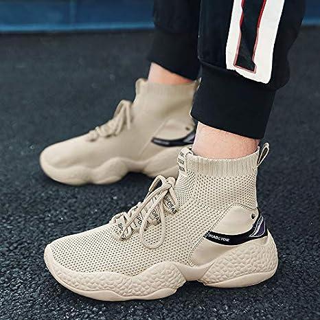Scarpe Sportive Casual Scarpe da Uomo Calde e comode HCBYJ Scarpe elastiche Scarpe Elasticizzate Autunnali Scarpe con Calzini Traspiranti e Traspiranti