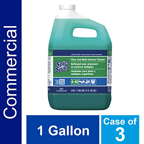- Floor and Multi-Surface Concentrate Cleaner from Spic and Span Professional, Bulk Cleaner for Kitchen, Bathroom and Unwaxed Wood Floor Uses, 1 Gal. (Case of 3)