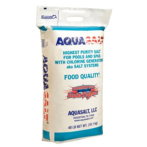 AquaSalt Chlorine Generator Salt For Swimming Pools - Qty. 6 (40 Lb. Bag) by AQUASALT