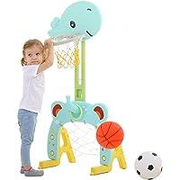 Juego de Aros de Baloncesto 3 en 1 Centro de Actividades Deportivas Cultivar a Profesional Ajustable Fácil Puntaje Aro…