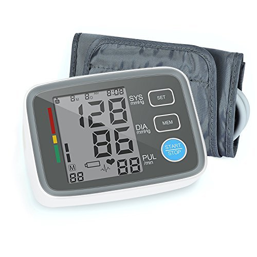 Digital Blood Pressure Monitor Arm Automatic Blood Pressure Cuff Machine with One Size Fits All Cuff, Easy to Read and Calculation Accuracy - FDA (Pressure Machine)
