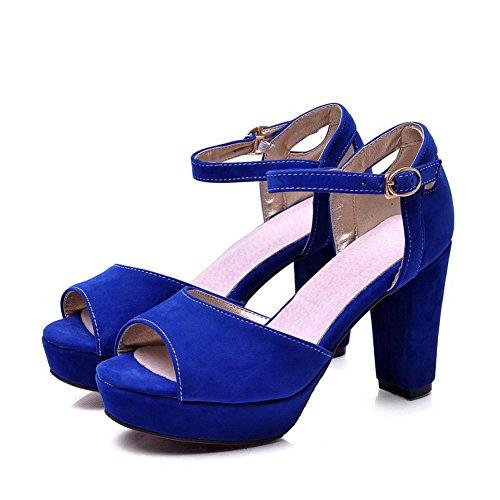 Adee Mujer Formal antideslizante esmerilado Sandalias Azul - azul