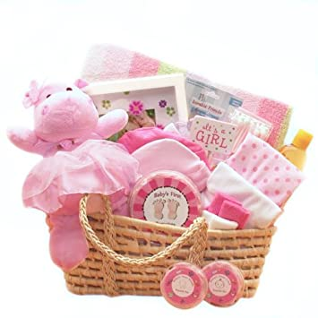 Amazon.com : For a Precious New Baby Girl Gift Basket - Great ...