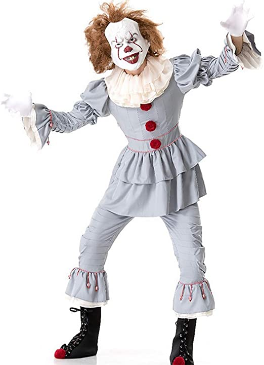 Disfraz De Cosplay De Halloween Payaso Adulto Que Regresa Alma ...