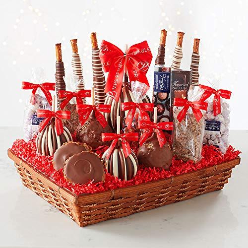 Mrs Prindables Abundant Holiday Caramel Apple Gift Basket