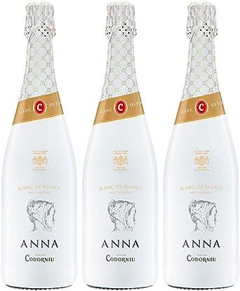 Codorníu | Cava Anna de Codorníu Blanc de Blancs Reserva | Caja de 3 botellas de 75 cl: Amazon.es: Alimentación y bebidas