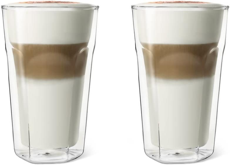 Leopold Vienna Double Walled Glass Latte Macchiato 8.6 x 8.6 x 13.3 cm