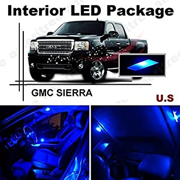 Blue LED Lights Interior Package White LED License Plate Kit Ameritree Toyota Sienna 2011-2016 11 Pieces