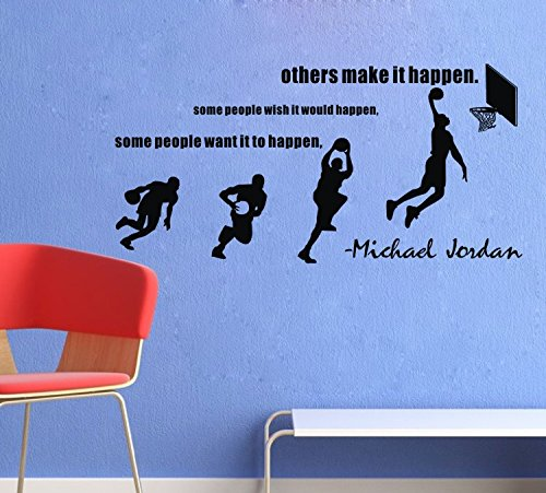 Coavas® Sports Wall Decals Some People Want It To Happen Michael Jordan  Quotes Wall Saying Part 78