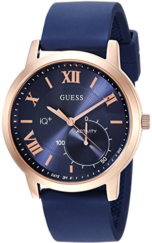 GUESS Men's Connect Fitness' Quartz Stainless Steel and Silicone Casual Watch, Color:Blue (Model: C2004G2)