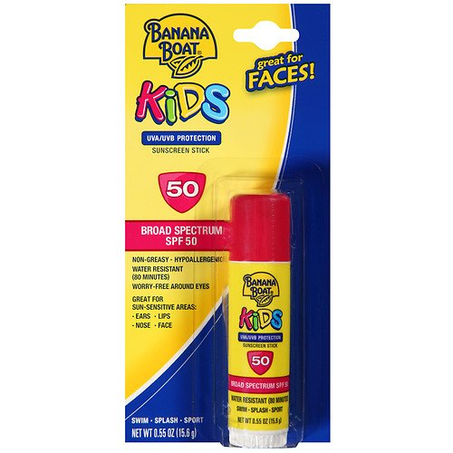 Banana Boat Kids Kids Sunblock Stick, SPF 50 0.55 oz (15.6 (Banana Sticks)