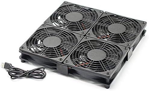 4 Ventilador Router inalámbrico Soporte de radiador Marco Set-Top ...