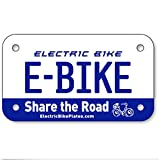 E-BIKE Electric Scooter Bike License Plates 4''x7''