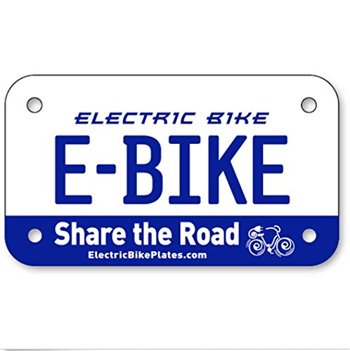 E-BIKE Electric Scooter Bike License Plates 4''x7'' by scooter (Image #1)