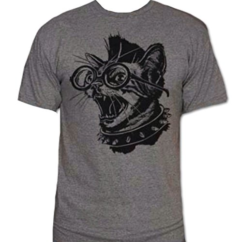 Punk Cat T-Shirt-Funny Humorous Novelty - Cat Punk Rock
