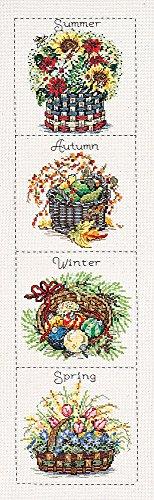 (Janlynn Seasonal Baskets Counted Cross Stitch Kit, 6-Inch x 24-Inch)