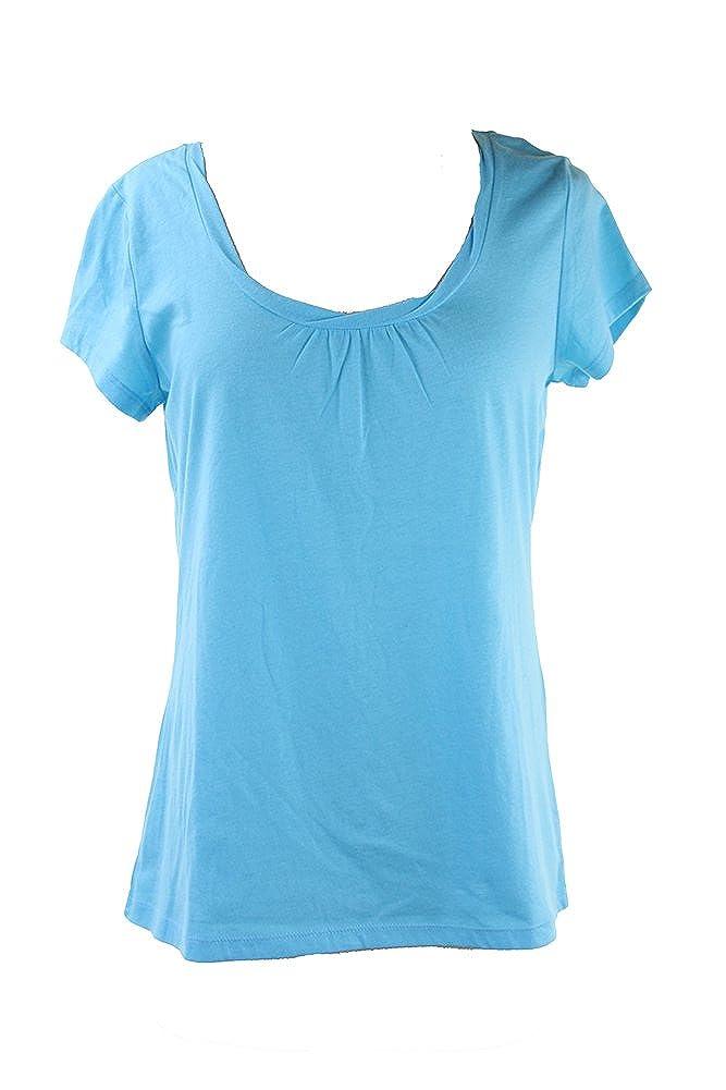 Charter Club Blue Cap-Sleeve Scoop Neck Pajama Top XS