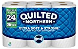 Quilted Northern Ultra Soft & Strong Toilet Paper, 12 Double Rolls, 12 = 24 Regular Bath Tissue Rolls