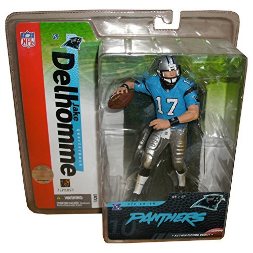 (Jake Delhomme 17 Carolina Panthers Blue Jersey Silver Pants Variant Chase Alternate McFarlane NFL Series Action Figure)