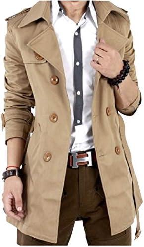 [アルファーフープ] メンズ 無地 スーツ ビジネス カジュアル トレンチ コート ジャケット 長袖 アウター 上着 大きいサイズ