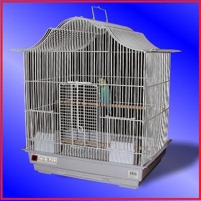 Jaula para aves Tazmin color blanco extra grande para canarios o ...
