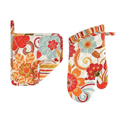 Pot Holder & Mitt Set, Giselle, Colorful