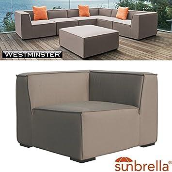Westminster Sahara esquina asiento gris topo - impermeable licencia ...