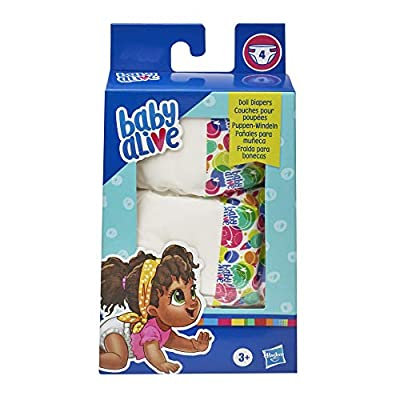 Baby Alive Doll Diaper Refill, Includes 4 Diapers, Toys Accessories, for Kids Ages 3 Years Old and Up: Toys & Games