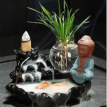 Yinsen Dragon /& Tiger Backflow Incense Burner Holder Sandalwood Incense Tea Ceremony 20 Cones
