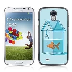 YOYOSHOP [Funny Goldfish House] Samsung Galaxy S4 Case WANGJING JINDA
