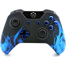 """""""Soft Touch Blue Fire """" Xbox One Rapid Fire Custom Modded Controller for COD BO3, Destiny, GOW 4, Battlefield 1: Quick Scope, Drop Shot, Auto Run, Sniped Breath, Mimic, More (3.5 mm jack)"""