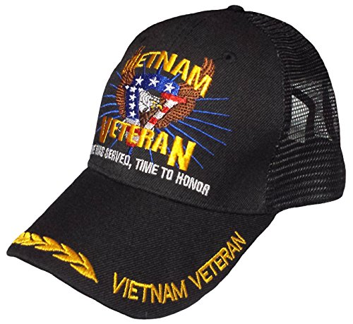 Vietnam Veteran Baseball Cap TRUCKER Hat Army Marine Navy Air Force