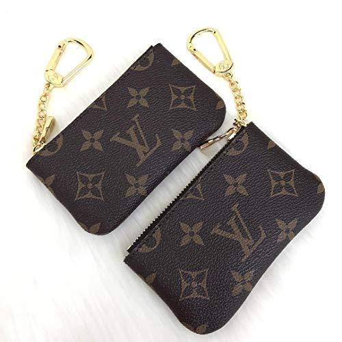 L*uis V*itton Original Brown Monogram Leather Keychain BagCharm HandMade by - DesignerBomb. ()