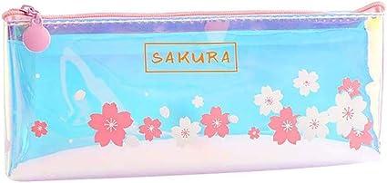 Fansi - Estuche de papel de carta, diseño de cereza, color transparente, color Stil D 21 * 10cm: Amazon.es: Oficina y papelería