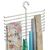 Spine Scarf Closet Organizer Hanger, Hanging Storage Ideal for Bedrooms, Mudrooms, Dorm Rooms, No Hardware Required