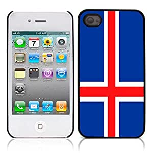 The flag of Iceland Hard Plastic and Aluminum Back Case for Apple iphone 4 4S