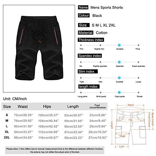 Elastica Corsa Nero Da Sport Sidiou Vita Cotone Uomo Casual Pantaloni Fitness Allenamento Sportivi Pantaloncini Group wzw6xq0S4