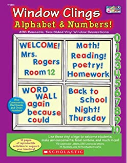 window clings alphabet u0026 numbers - Window Clings