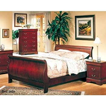 Amazon com  Coaster Fine Furniture 200431q Louis Philippe Style   This item Coaster Fine Furniture 200431q Louis Philippe Style Sleigh Bed   Queen  Cherry Finish. Coaster Bedroom Furniture. Home Design Ideas