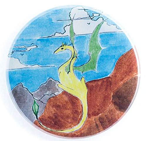 Fanciful Dragon Watercolor Print Flat Art Pocket -