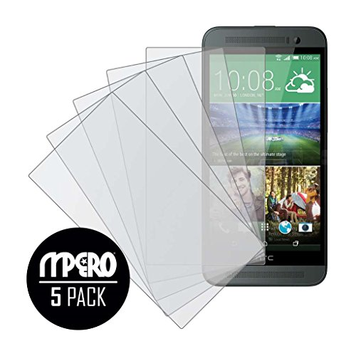 HTC One E8 Screen Protector Cover, MPERO Collection 5-Pack of Matte Anti-Glare Screen Protectors for HTC One E8