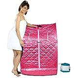 Kawachi Portable Folding Steam Bath For Relaxation & Rejuvenator Full Body Detox Therapy - Pink